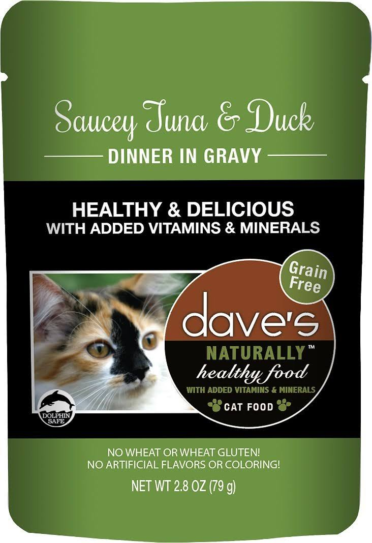 Dave's Pet Food Healthy Tuna Dck 2.8oz PCH Canned Cat Food
