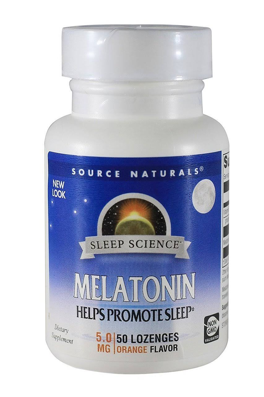 Source Naturals Melatonin Dietary Supplement - 5mg, 50 Tablets