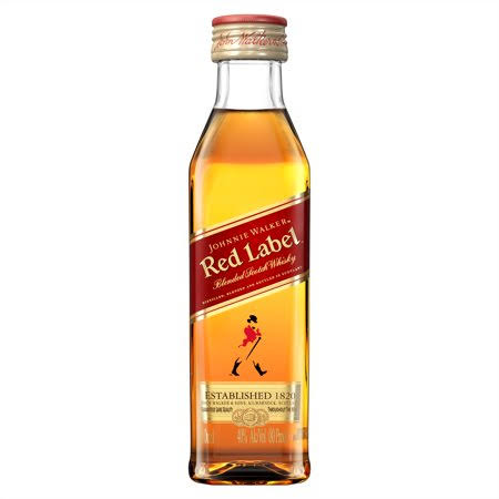Johnnie Walker Red Label Blended Scotch Whisky - 50 ml bottle