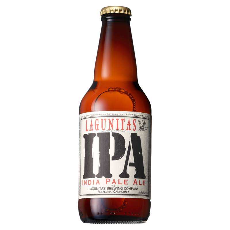Lagunitas IPA Beer Bottle
