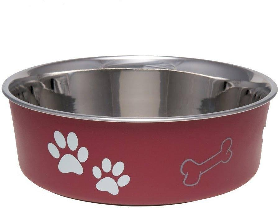 Loving Pets Bella Dog Bowl - Merlot, Small