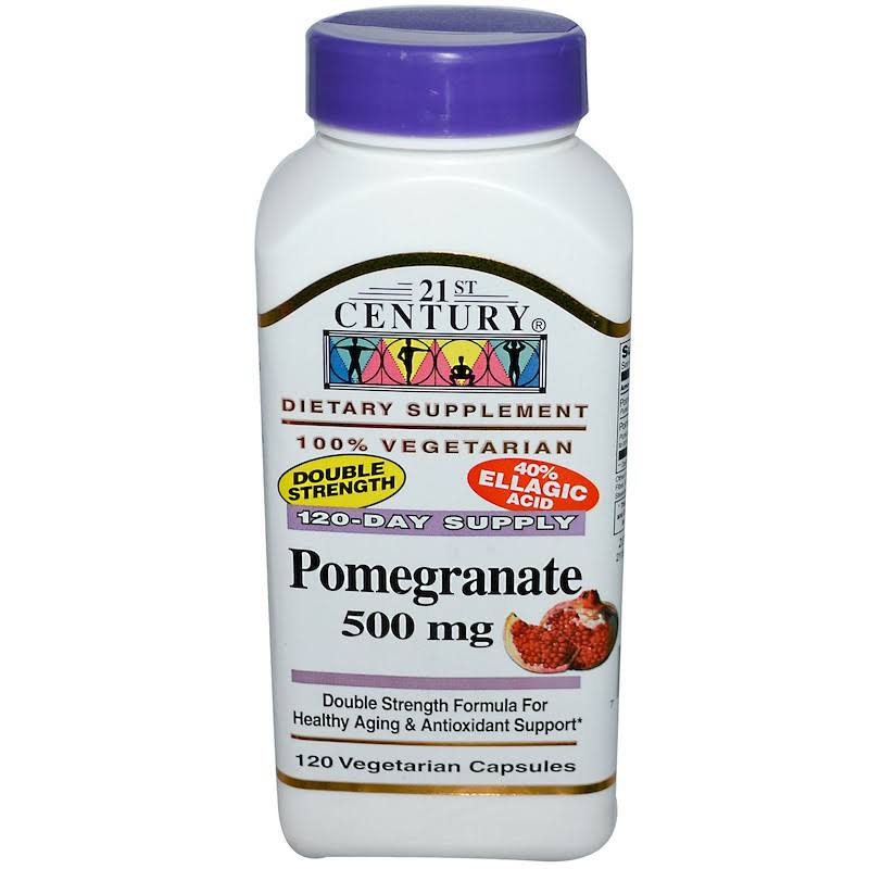 21st Century Vegetarian Capsules Dietary Supplement - Pomegranate, 500mg, 120ct