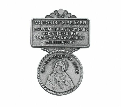 Sacred Heart Motorist's Prayer Visor Clip