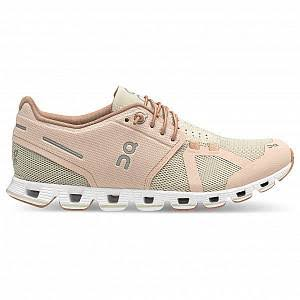 on Women's Cloud Running Shoes - Rose/Sand - 7