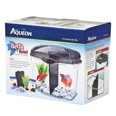 Aqueon Betta Bowl Aquarium Kit - Black