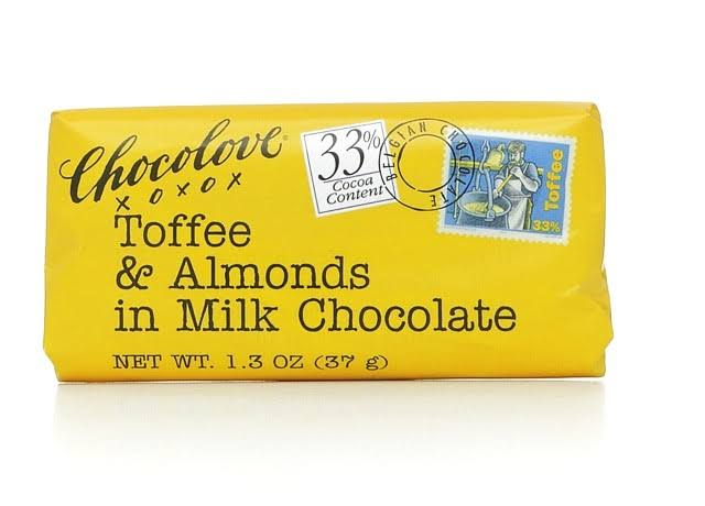 Chocolove Xoxo Milk Chocolate - Toffee & Almond