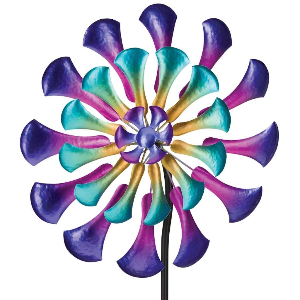 "Regal Art & Gift 12287 - 26"" Multi-color Flower Wind Spinner"
