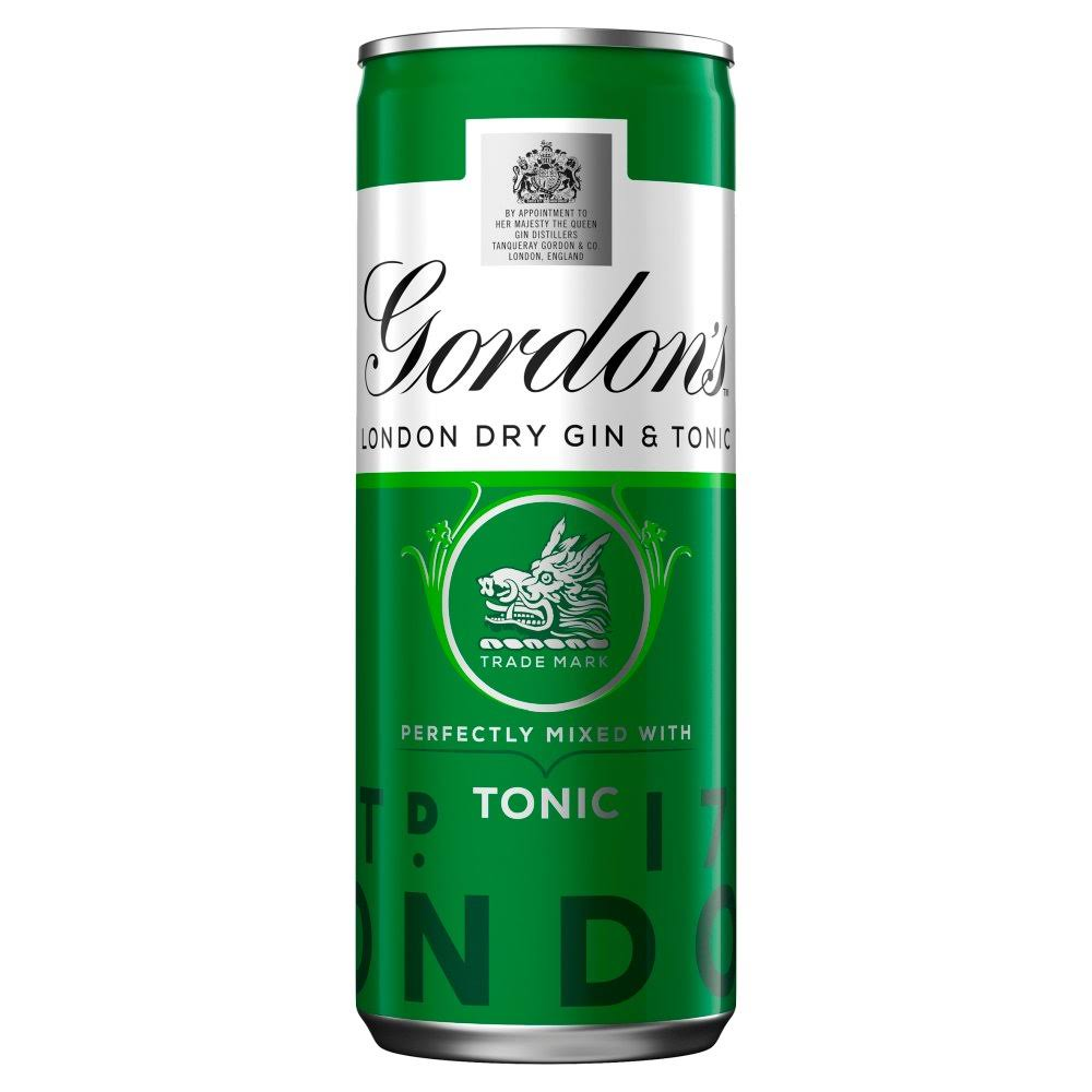 Gordon's Gin and Schweppes Tonic - 250 ml