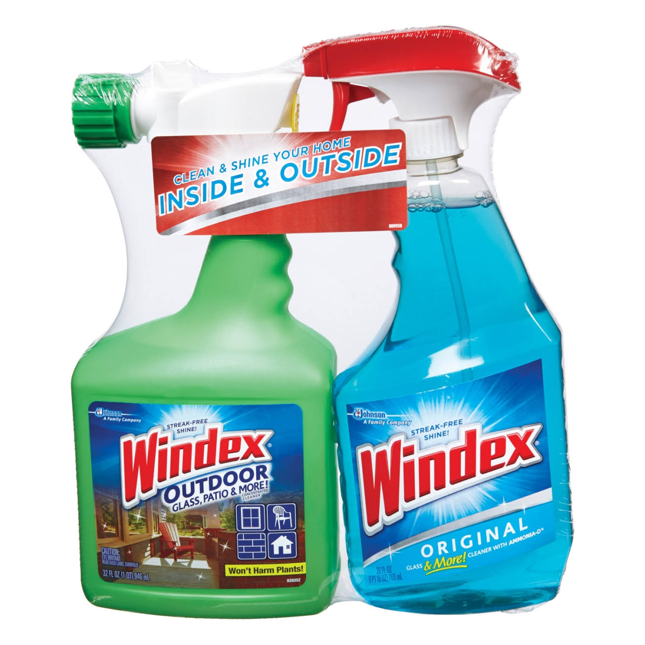 Windex Indoor Outdoor Cleaner Spray Combo Pack - 2pk