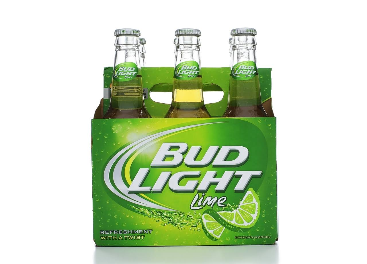 Bud Light Beer - Lime, x6