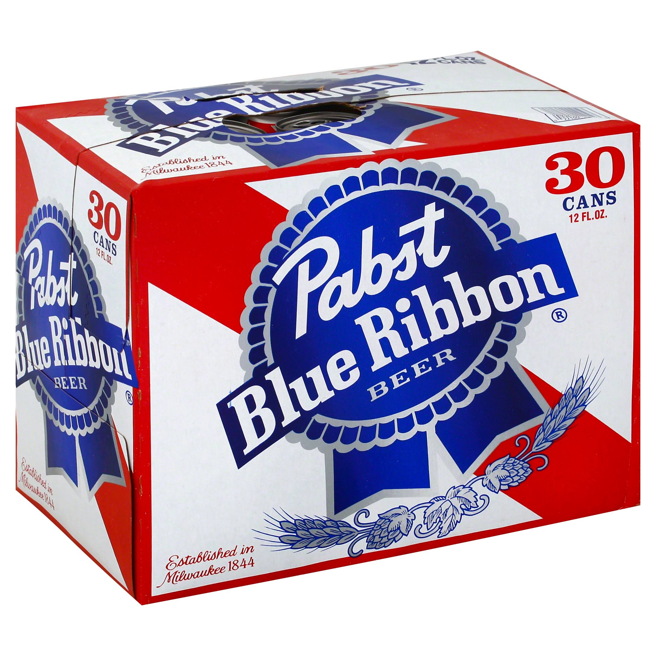 Pabst Blue Ribbon Beer Cans - 12oz, 30pk