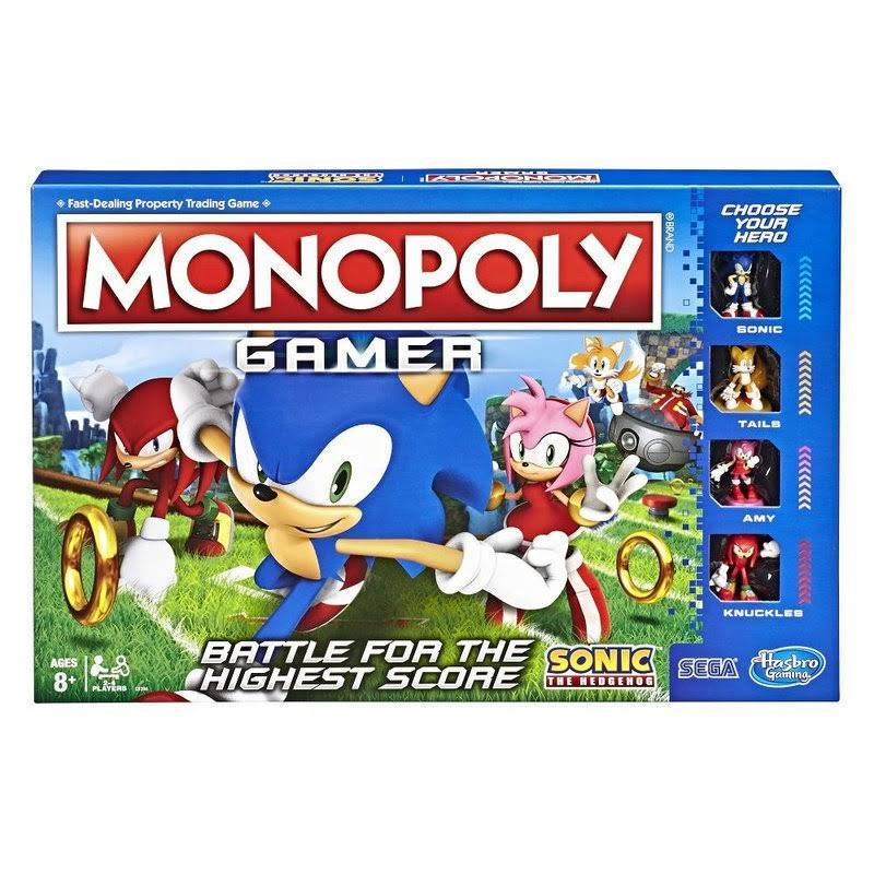 Monopoly Gamer Sonic the Hedgehog Edition Board Game - For Ages 8 and Up
