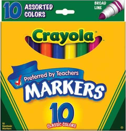 Crayola Fine Line Markers - Classic Colours, 10pk