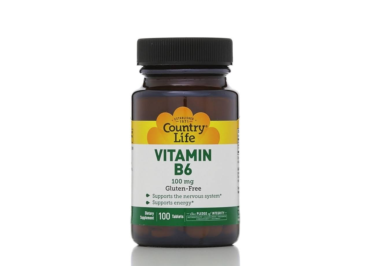Country Life Vitamin B6 Supplement - 100 Tablets