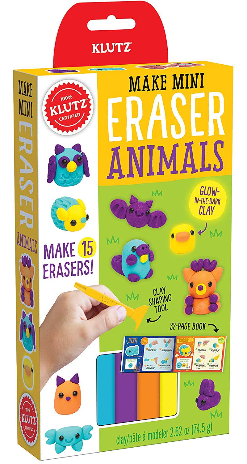 Klutz Make Mini Erasers Kit-Animals