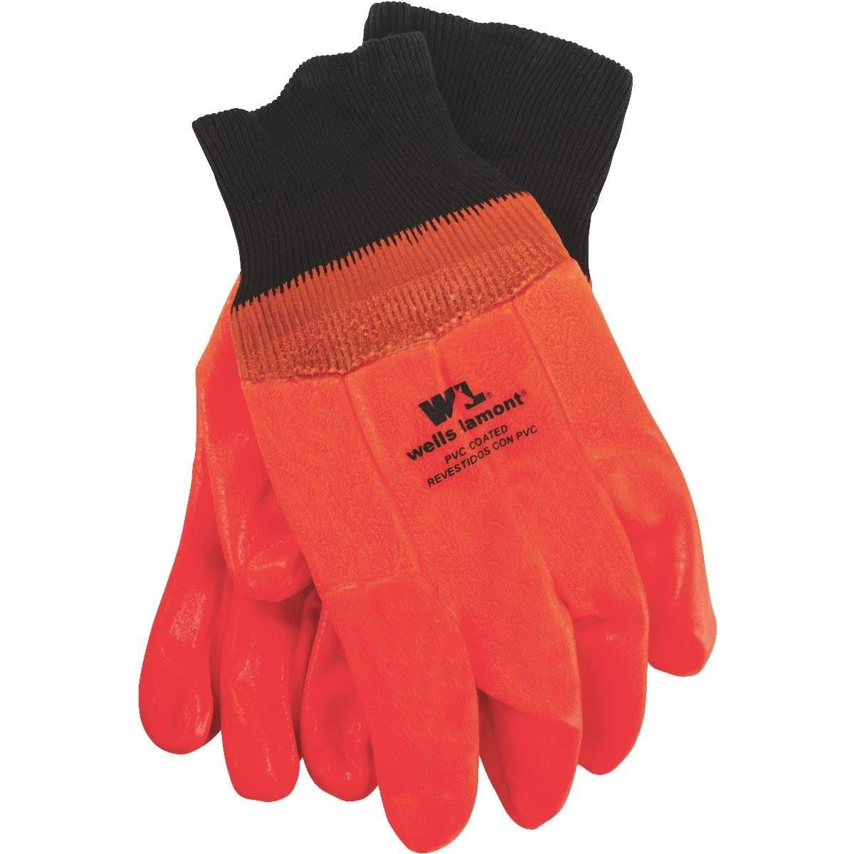 Wells Lamont PVC Insulated Gloves - Orange, 164 Pairs