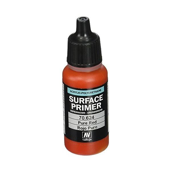 Vallejo Game Air Va70624 Surface Primer - Pure Red, 17ml