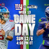 Week 13 inactives: Seattle Seahawks host New York Giants