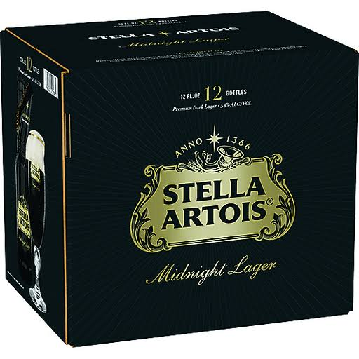 Stella Artois Midnight Lager - 12 ct