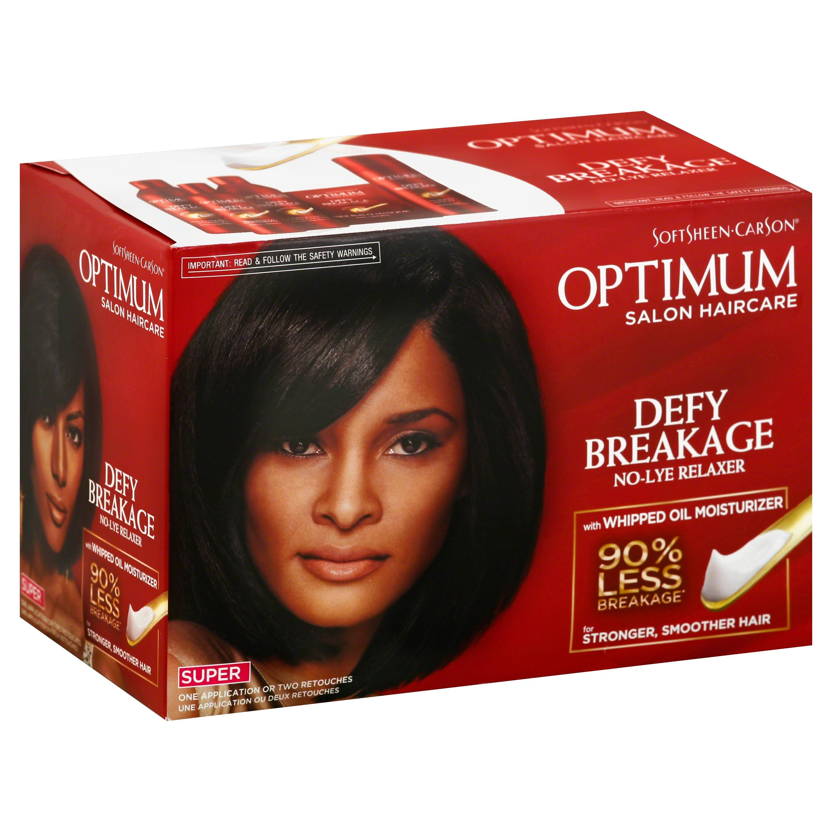 Optimum Salon Haircare Relaxer, No-Lye, Defy Breakage, Super