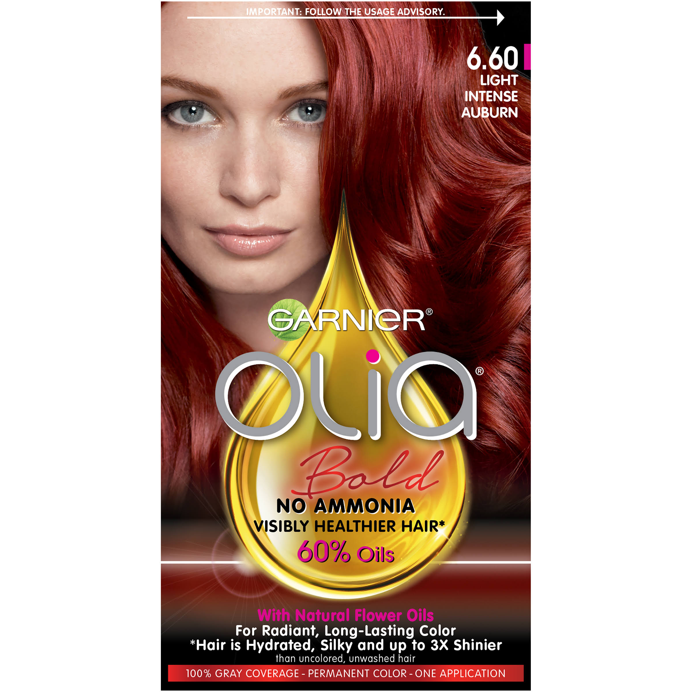 Garnier Olia Oil Powered Permanent Haircolor - 6.60 Light Intense