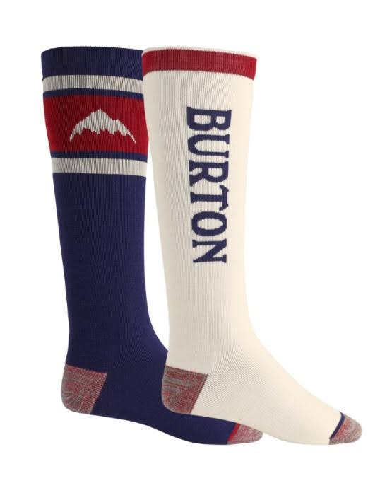 Burton Weekend Midweight Snowboard Socks - Mood Indigo, 8 to 10 UK, 2pk