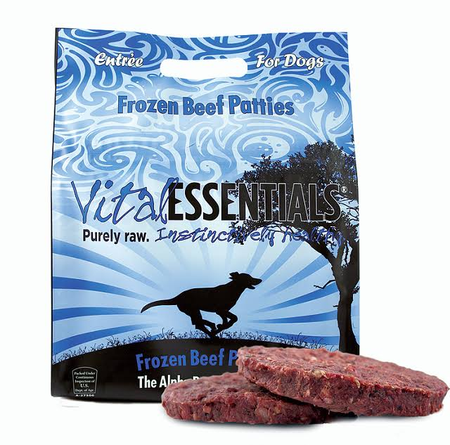 Vital Essentials Frozen Raw Beef Patties Dog Food - 6 lbs.