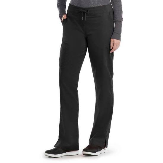 Grey's Anatomy 6-Pocket Tie Front Scrub Pant - Black XS Petite