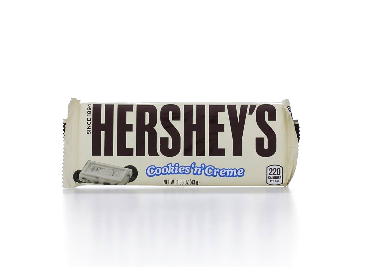 Hershey's Candy Bars - Cookies 'N' Creme, 1.55oz