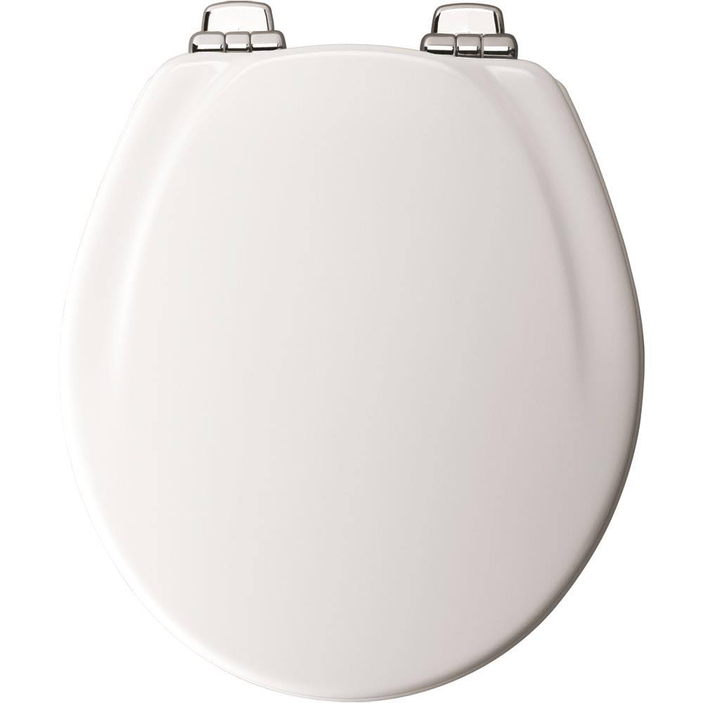Mayfair Wood Slow-close Toilet Seat - Round, White