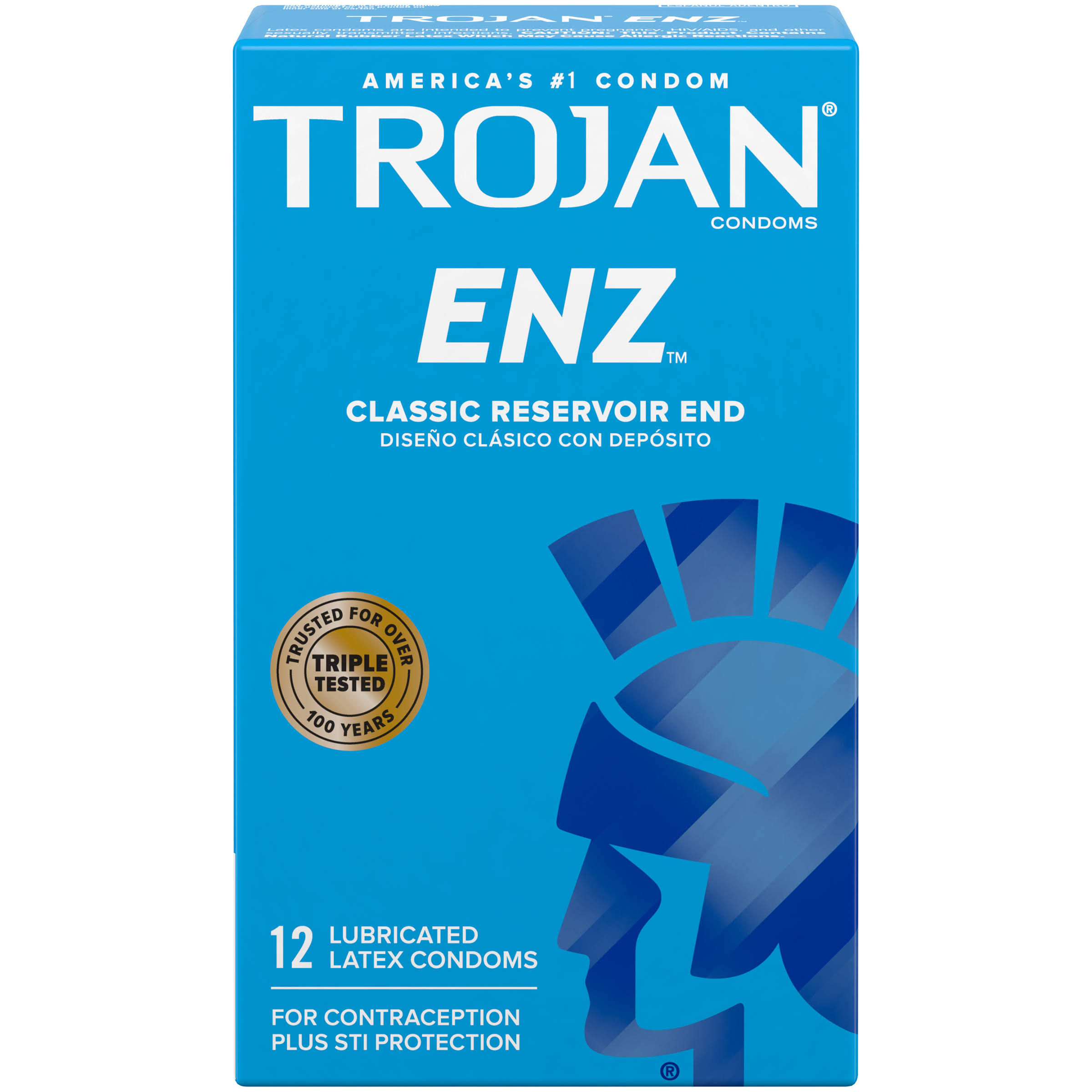 Trojan ENZ Lubricated Latex Condoms - 12 Count
