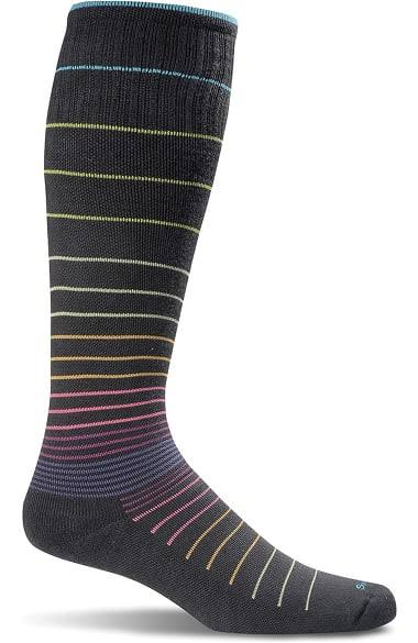 Sockwell Womens Circulator Compression Socks - Small-Medium, Black Stripes