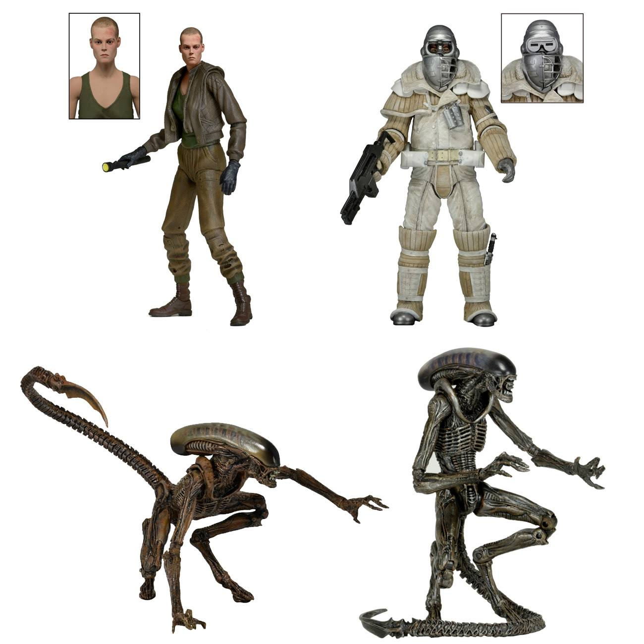 Neca Aliens Weyland Yutani Commando Alien 3 Series 8 Action Figure Set - Set of 4