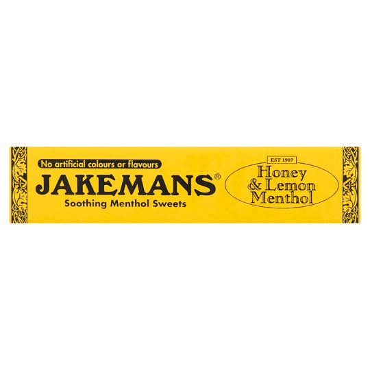 Jakemans Honey and Lemon Menthol Soothing Menthol Sweets - 41g