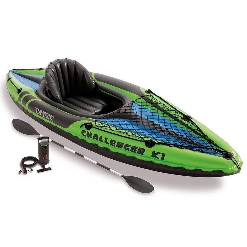 Intex Challenger K1 Inflatable Kayak - With Oar & Hand Pump