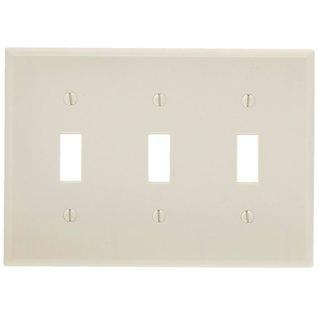 Leviton Manufacturing Wallplate - Light Almond, 3 Gang