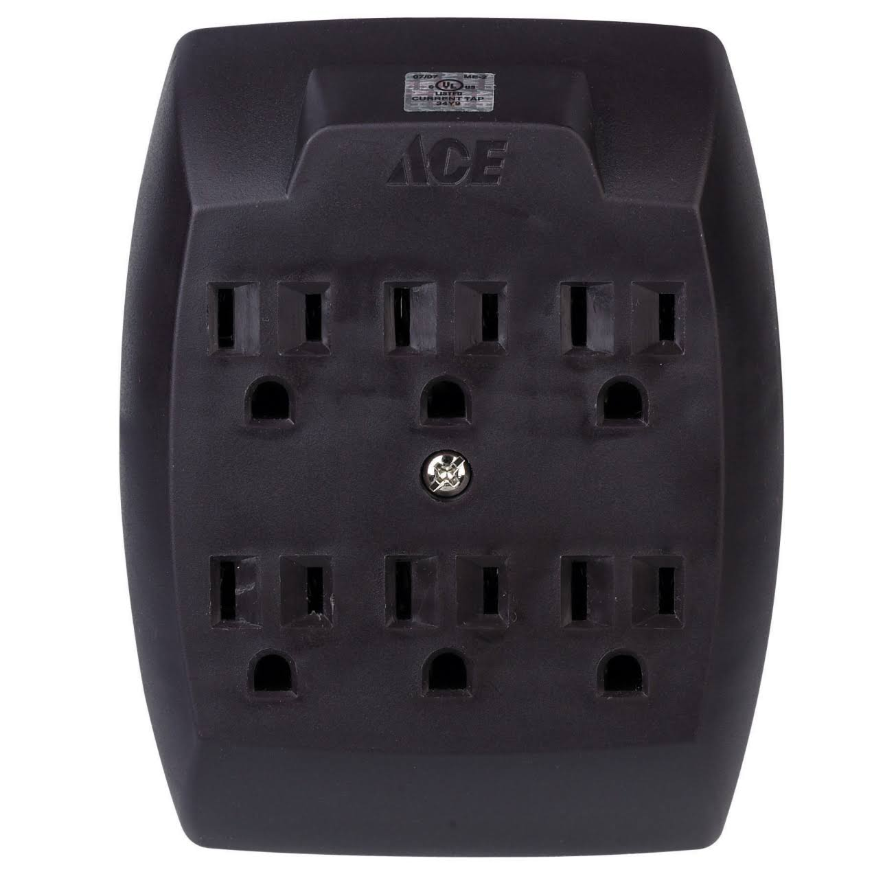 Ace 33540 Grounding Adapter - 6 Outlet, Brown