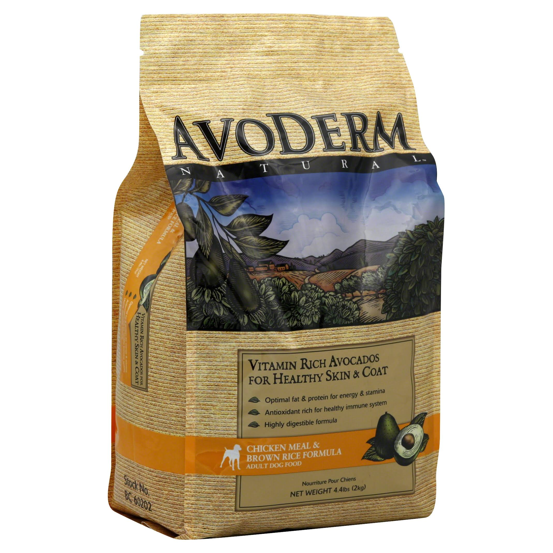 AvoDerm Natural Adult Dog Food - Chicken Meal and Brown Rice, 4.4lb