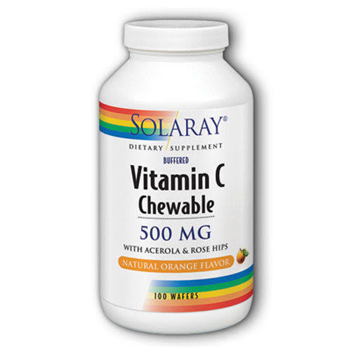 Solaray Vitamin C Chewable 500mg Dietary Supplement - Orange, x100