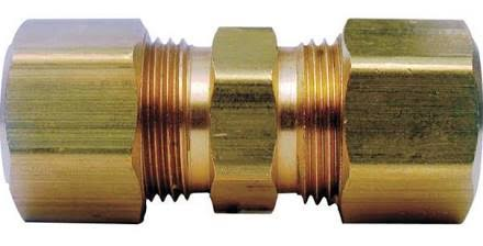 JMF Compression Union Yellow Brass - 5/8in
