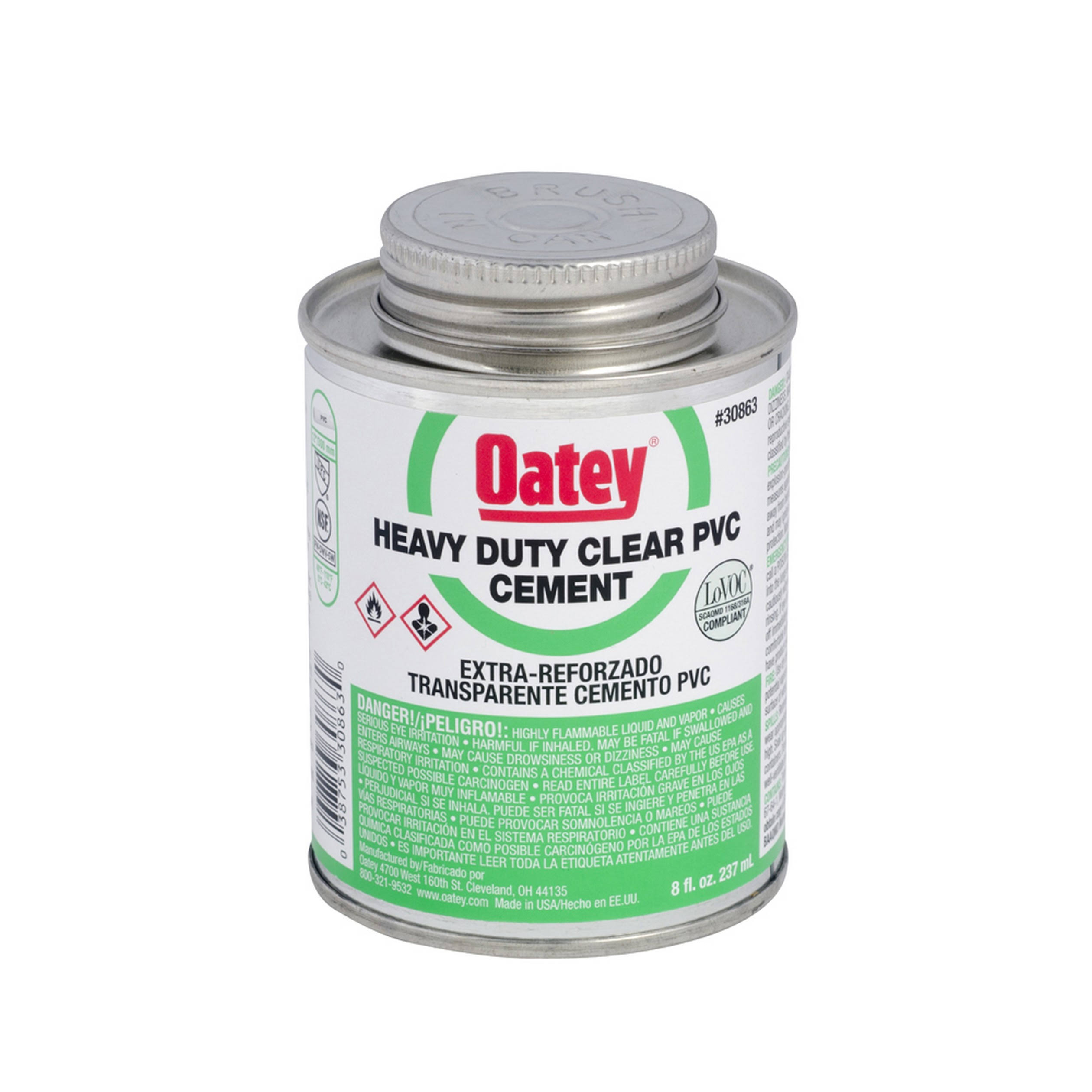 Oatey Regular PVC Cement - Clear, 473ml