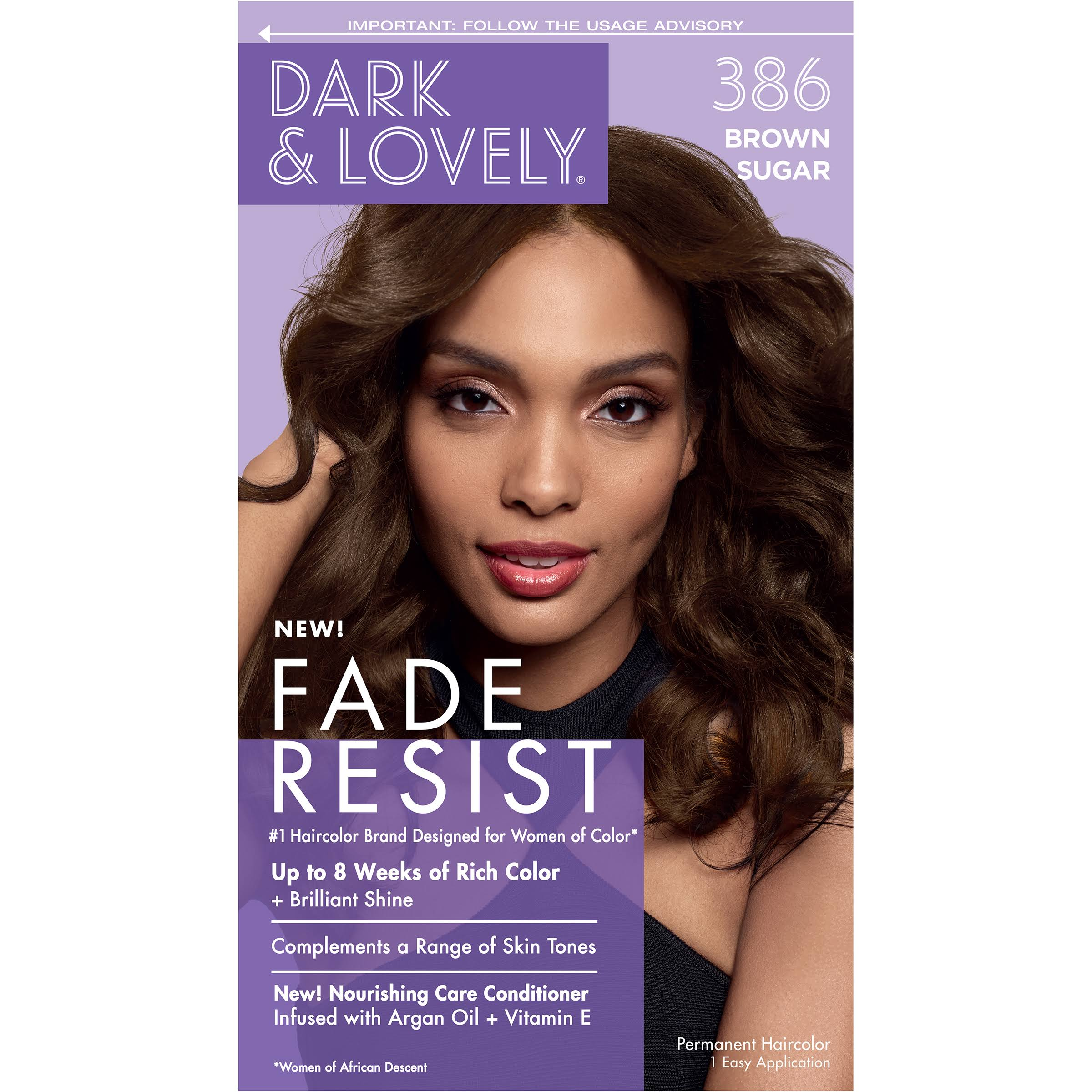 Dark and Lovely Permanent Haircolor, Brown Sugar 386
