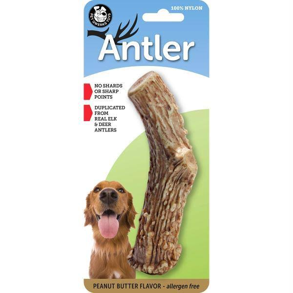Pet Qwerks Dog Antler - Peanut Butter
