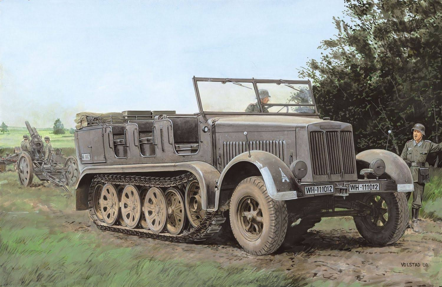 Dragon 1/35 Sd.Kfz.7 8T Half Track Initial Production ~ Smart Kit
