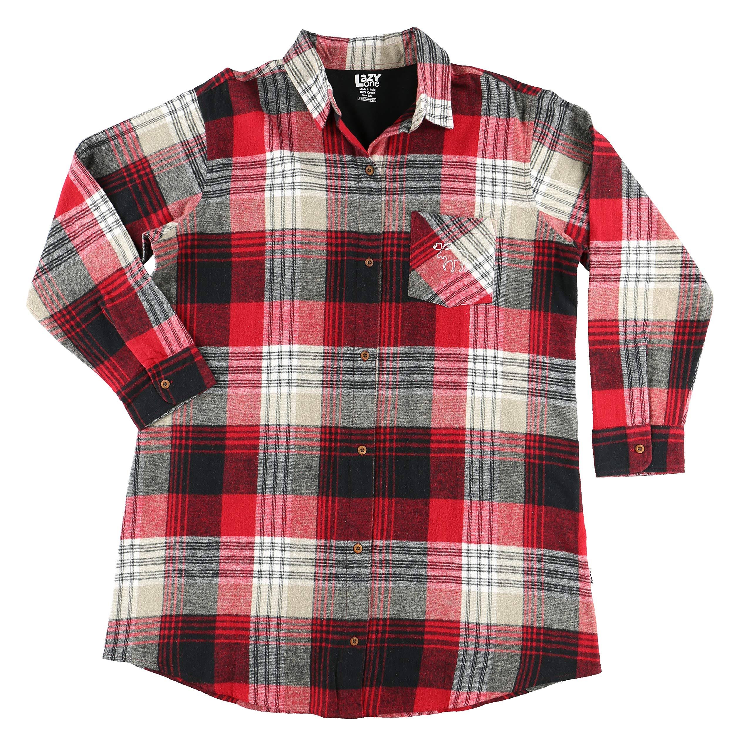 Lazy One Country Plaid Flannel | Nightshirt (L/XL)
