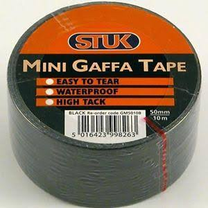 stuk Mini Gaffa Tape Black 48mm x 10m GM5010B