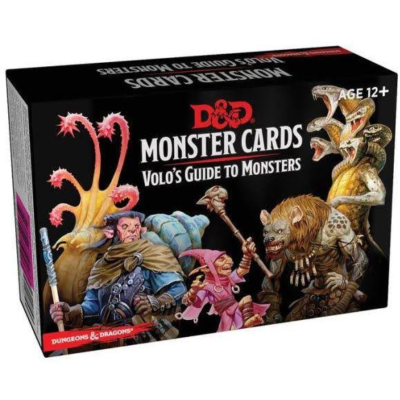 Dungeons and Dragons Spellbook Monters Cards Games