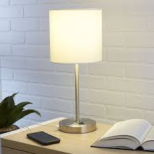 Mainstays Floor Lamp With Reading Light Assembly by Amazon Com Mainstays White Grab And Go Stick Lamp With Usb Port