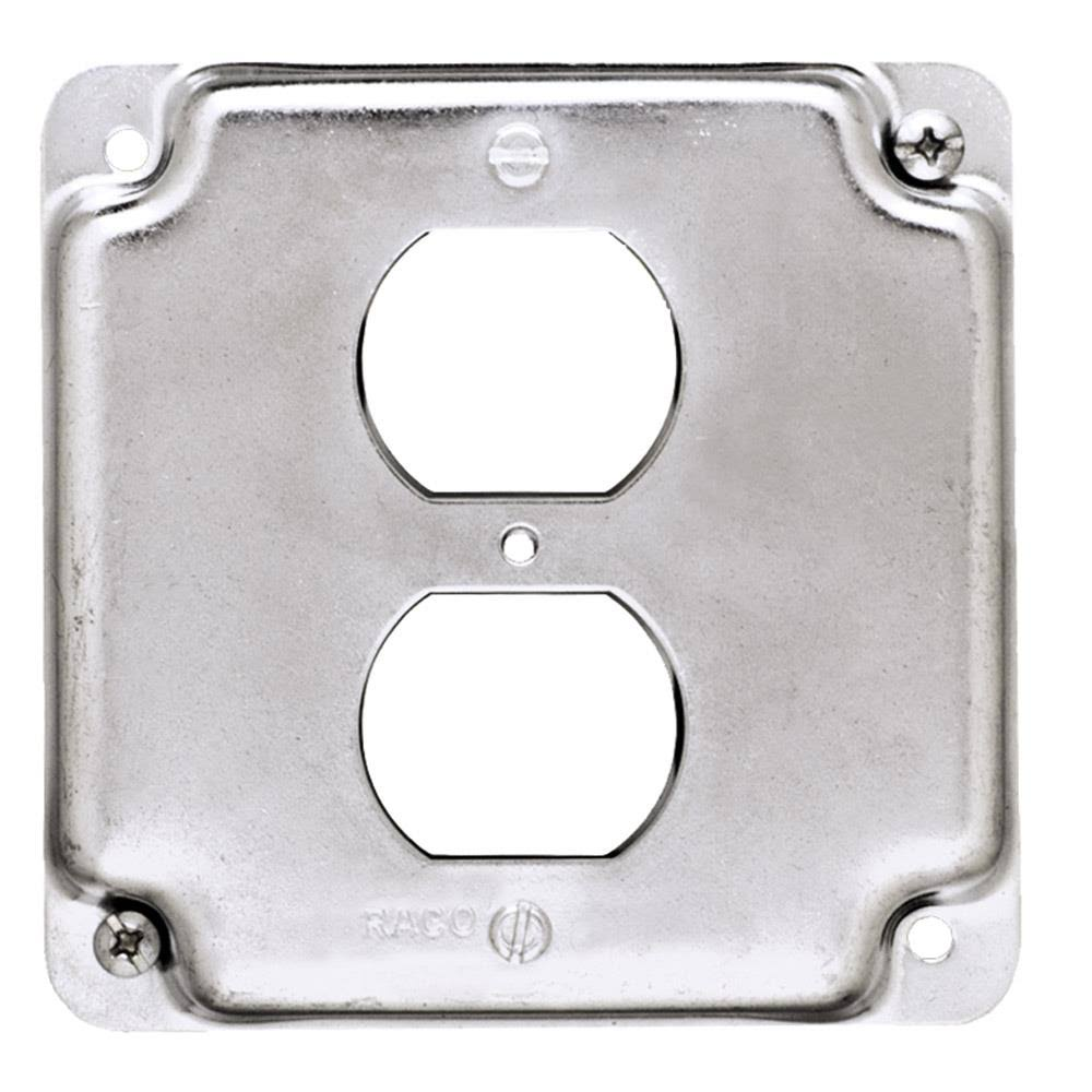 Hubbel Raco Duplex Receptacles Box Cover - 4""