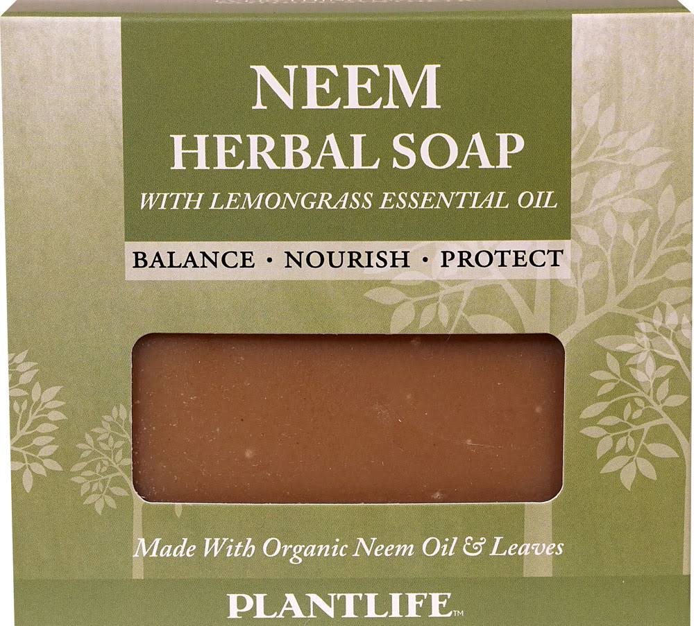 Plantlife Neem Herbal Soap with Lemongrass Essential Oil - 4.5 oz